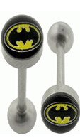 Surgical Steel Barbell With Badman Logo Ball
