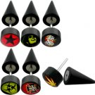 Black UV Fake Ear Plug with logo Spike.