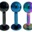 Sugical steel Labret Anodised with Ball
