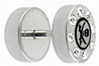 Surgical Steel Jeweled Ear Logo Design Stud