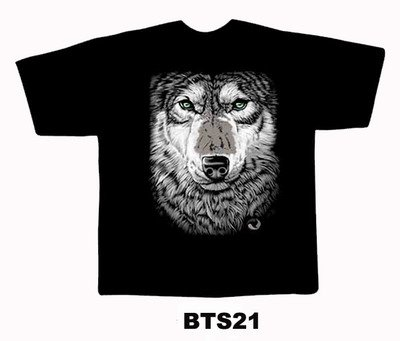 Black colour T-Shirt with Fabric printing lion Face Design