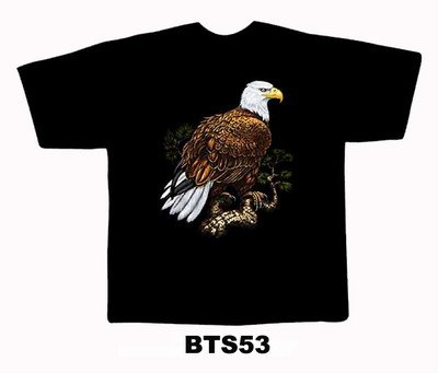 Black colour T-Shirt with Fabric printing Eagle Design