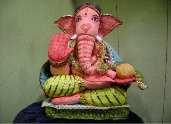Jute Ganesh Idol