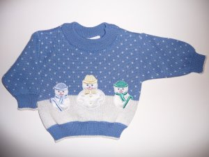 NWT Talbots Infant Baby Sweater Snowmen Snowman 6 mths
