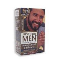 Just For Men Brush-In Gel Mustache, Beard & Sideburns, Real Black - 1 Oz