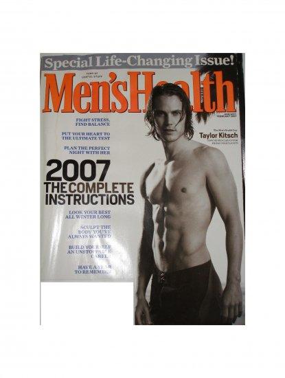 Men's Health Magazine Jan/Feb 2007 Taylor Kitsch