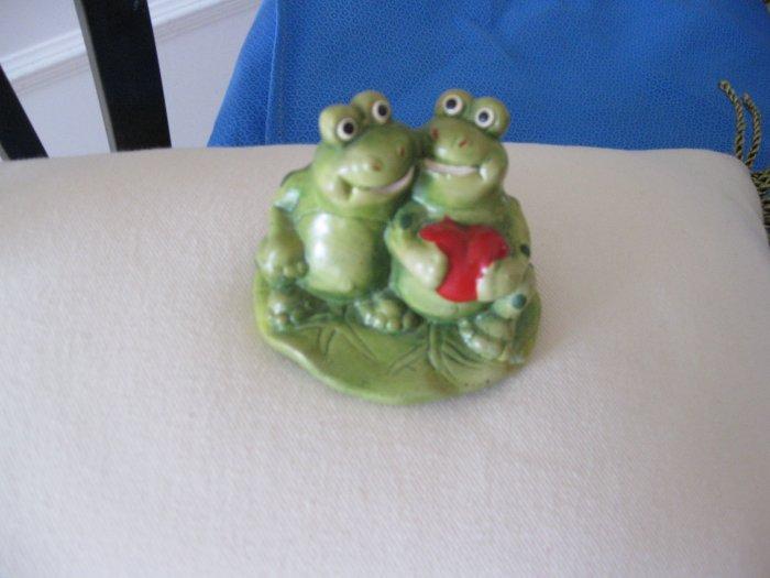 Frogs in Love Figurine