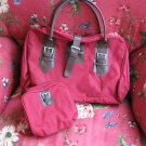 Red Travel Bag and accessories bag