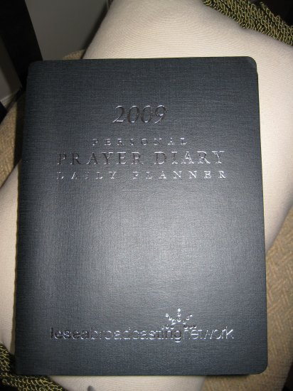 Personal Prayer Diary& Daily Plannner 2009