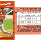 Card #399 Tom Brunansky