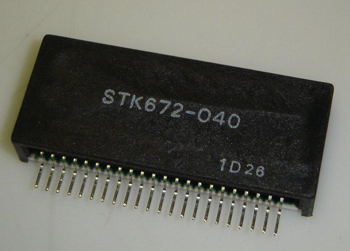 STK672-040 Original Sanyo 22 Pin SIP IC