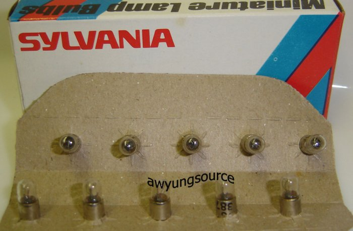 387 Sylvania Lamp Original 1.12W (.40A) 28V (10/Box)