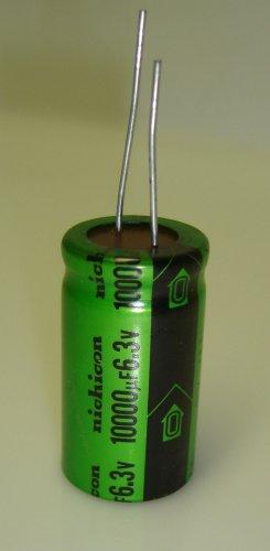 10000uF-6.3V Nichicon Aluminum Electrolytic Capacitor 105C 3-Pcs