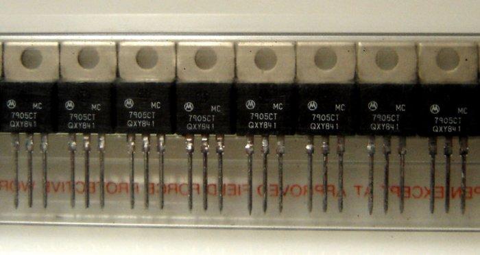 MC7905CT/7905/7905CT Motorola Voltage Regulator - 5 Pcs