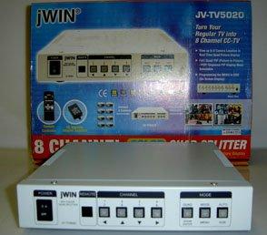 JV-TV5020 JWIN 8 CHANNEL COLOR QUAD SPLITTER