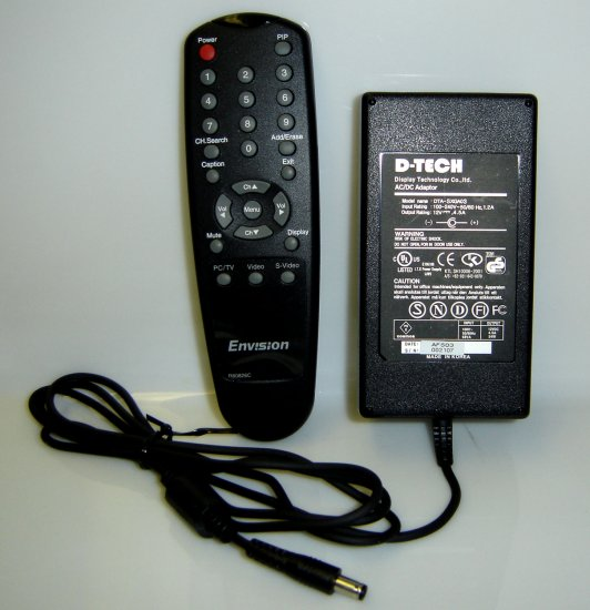 EN7500 Envision Remote Control & AC Adapter Kit