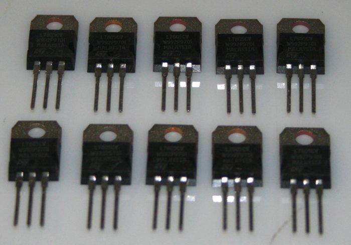 GL7805 LG Semiconductors Original 5 Volt Positive Regulator - 10 Pieces