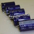 220uF-100V Teapo Aluminum Electrolytic Capacitor - 5 Pieces