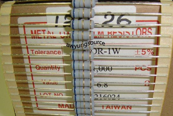 6.8 Ohm - 1 Watt Metal Oxide Resistor =/-5%