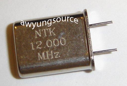 12.000MHz CRYSTAL NTK RADIAL LEAD - HC4-9U BRAND NEW!