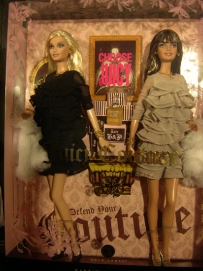 JUICY COUTURE BEVERLY HILLS G&P BARBIE DOLLS - L9605 - 2008 GOLD LABEL COLLECTION!