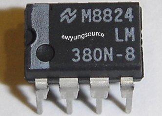 LM380N-8 NATIONAL SEMICONDUCTOR ORIGINAL 8 PIN DIP IC!