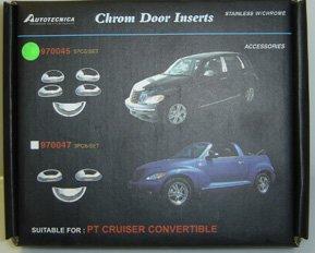 970045 AUTOTECNICA PT CRUISER CHROME DOOR INSERTS - STAINLESS W/CHROME 5 PC SET