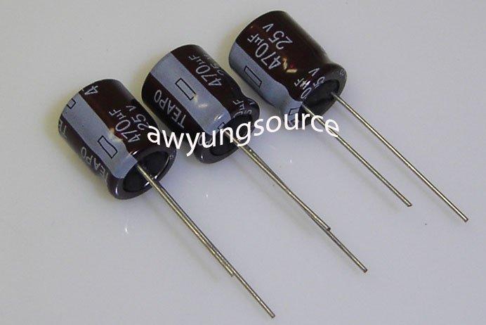470uF-25V TEAPO ORIGINAL ELECTROLYTIC ALUMINUM CAPACITOR - 3 PCS