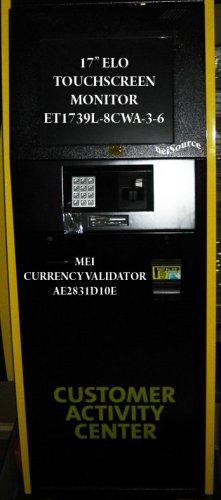 "PAYMENT KIOSK W/17"" TOUCHSCREEN, BILL VALIDATOR (TO $100) & KEYPAD"