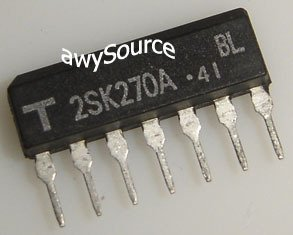 2SK270A-BL TOSHIBA ORIGINAL 2X N-CH JFET 7P SIP PACKAGE