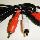 CABLE 3.5mm RCA(M)-RCA(M) 3 FT RED/WHITE CONNECTORS