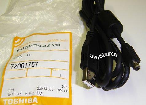P000362290 TOSHIBA USB PC LINK CABLE 72001757 ORIGINAL!