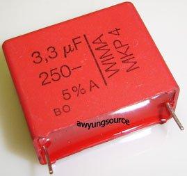 3.3uF-250V WIMA MKP4 POLYPROPYLENE 5% TOLERANCE!