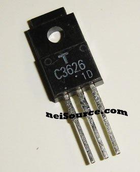 2SC3626 TOSHIBA NPN SILICON 40W/500V/8A TRANSISTOR