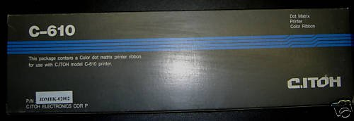 C-ITOH C610 COLOR DOT MATRIX PRINTER RIBBON JDMBK-0200
