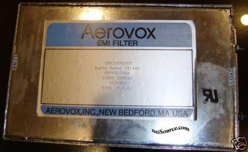 EMI FILTER RADIO NOISE FILTER 10A EDPF25204A AEROVOX
