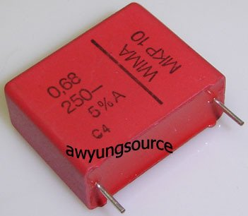 0.68uF-250V WIMA MKP10 POLYPROPYLENE FILM CAP 5% NEW!