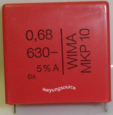 0.68uF-630V WIMA MKP10 POLYPROPYLENE 5% TOLERANCE!