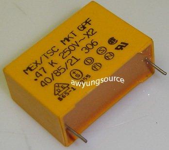 0.47uF-250V MEX/TSC POLYPROPYLENE FILM CAP 10% MKT GPF