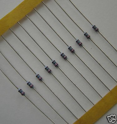 2.2 OHM-1/8 WATT METAL FILM RESISTOR 1% 10 PC PACKAGE!