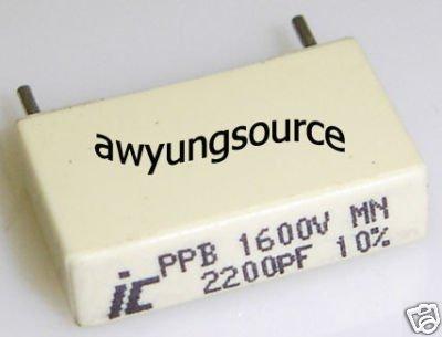 2200pF-1.6KV METALLIZED POLYPROPYLENE ILLINOIS CAP 5 PC