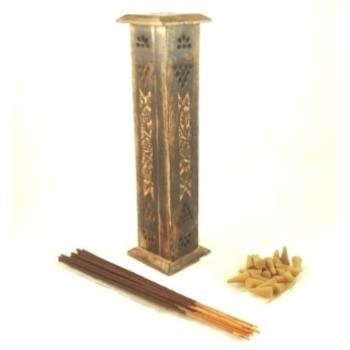 Lot of 8 Packs of 40 Incense Sticks/Cone Wooden Tower