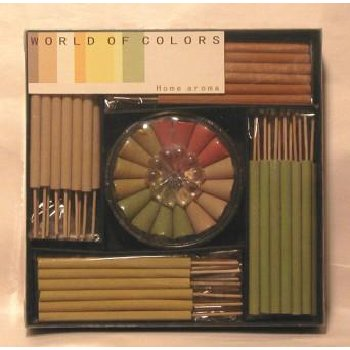 Lot of 12 Packs of 48 Incense Cones/Stick Glass Holder