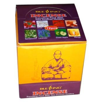 Lot of 4 Packs of 72 Glass with Incense Travel Pack