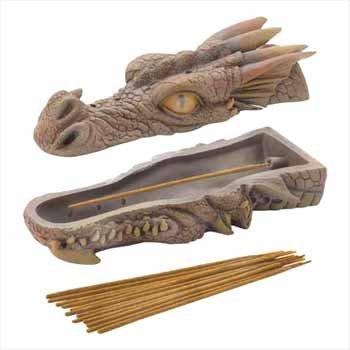 Lot of 6 Dragon Head Incense Burners