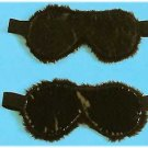 Leather Faux Fur Blindfold - Item 9015L