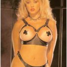 Leather Open Bra & Thong - Item 9202