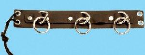 Leather Triple Ring Armband - Item B239