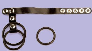 Leather and Rubber Cage C-Ring - Item B300