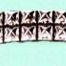 Two Row Pyramid Wristband - Item B334